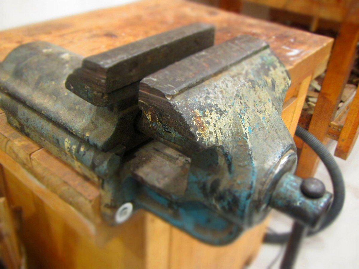 morsa da banco laboratorio restauro mobili